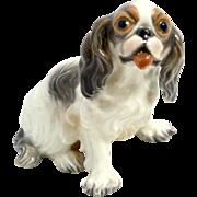 Vintage Porcelain Dahl- Jensen Cavalier King Charles Spaniel Dog Mint #1133