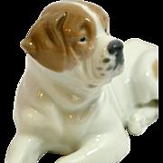 Antique Heubach St. Bernard Dog Figurine c.1909