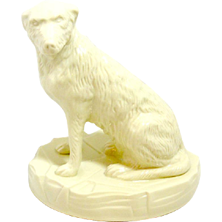 White Belleek Irish Wolfhound Dog Collectors Society Limited Edition