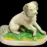 Antique Staffordshire Spaniel Dog Figurine c.1850
