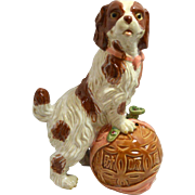 Vintage Asian Ceramic Spaniel Dog Figurine c. 1960's