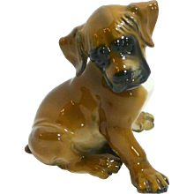 Rosenthal Boxer Puppy by Prof. Theodor Karner c. mid-1950's