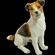Fox Terrier Jack Russell Dresden Figurine Carl Thieme Potschappel Germany