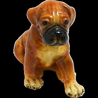 Morten's Studio Boxer Puppy Figurine