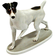 Rosenthal Smooth Fox Terrier Porcelain Figurine MINT