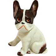 Boston Terrier Dog German Porcelain Figurine