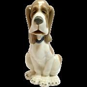 Lladro NAO Sad Basset Hound Dog Figurine c.1980's