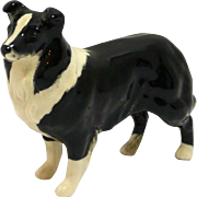 Beswick England Black & White Collie Dog A. Gredington c. 1962-2002