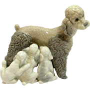 Lladro Mother Poodle with Puppies c.1974-1981