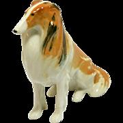 Vintage Lomonosov Porcelain Collie Dog Figurine c. 1970's