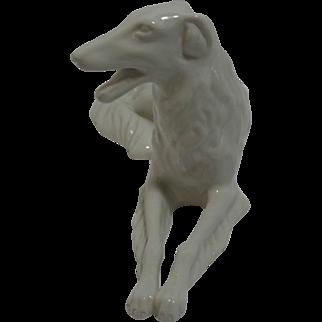 Vintage Royal Dux Bohemian Borzoi Dog