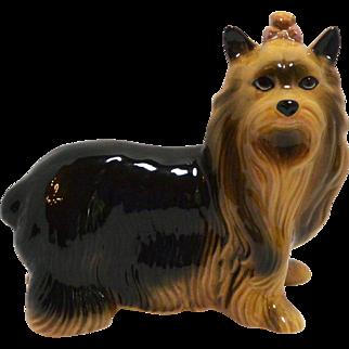Porcelain Yorkshire Terrier Dog Figurine Coopercraft c. 1960's