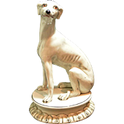 Vintage Whippet Figurine Italy c. 1950's