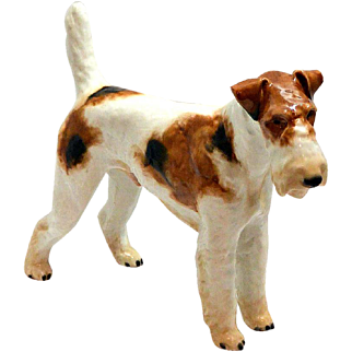 Large Rosenthal Wire-Haired Fox Terrier Figurine c.1935