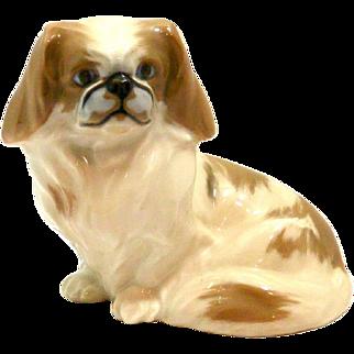 Royal Copenhagen Pekingese Dog Figurine Peter Herold c. 1897 - 1950's