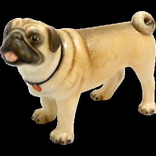 """Herend """"Lola"""" Natural Color Pug Dog"""