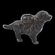 Vintage Cast Iron Newfoundland Pack Dog Still Bank