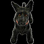 "Vintage Cold Painted Scottie Dog Pipe Holder ""Secret Hideaway"""