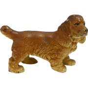 Hubley Cast Iron Cocker Spaniel Dog Paperweight pre-1939