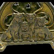 Rare Antique Judd Cast Iron Letter Holder USA c.1910