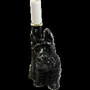 Vintage Black Scottie Dog Lamp c. 1940's