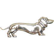 Vintage Sterling Silver Dachshund Dog Pin
