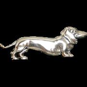 Vintage Sterling Silver Dachshund Dog Pin