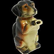 "Vintage Majolica ""Erphila"" Figural Dachshund Dog Teapot c.1938-1945"