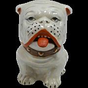 Vintage Figural Lusterware Bulldog Condiment Jar c.1940's