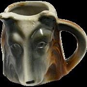Occupied Japan Figural German Shepherd Head Toothpick Holder c.1945 - 1952
