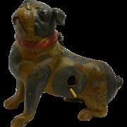 Vintage Pottery Pug Dog Birdhouse early 1900's