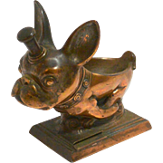 Rare AMW Ronson French Bulldog Striker Lighter with Pipe Holder