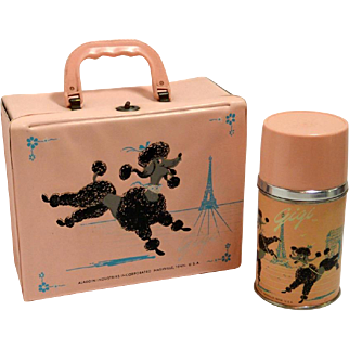 """Vintage """"Gigi"""" Poodle Lunchbox and Thermos c. 1962"""