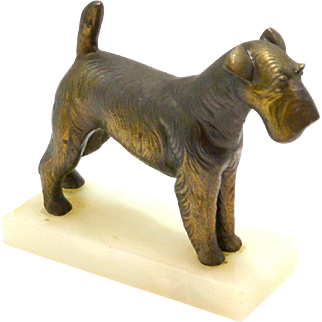 Vintage Fox Terrier Bookend