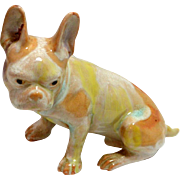 Vintage Watercolor Wash Ceramic French Bulldog c. 1960