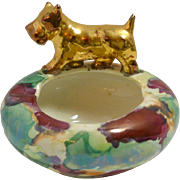 Vintage CumBow Pottery Ashtray with Scottie Dog c. 1930's - 1970's