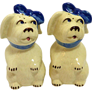 Shawnee Mugsy Dog Salt & Pepper Shakers c. 1940's