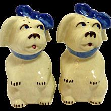 Shawnee Mugsy Dog Salt & Pepper Shakers c. 1940's