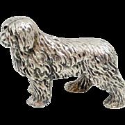 Vintage Silverplate Sheepdog