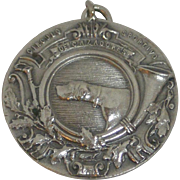"Vintage Sterling Silver ""Circle of Hunters"" Awards Medal c.1919"