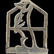 Vintage Sterling Silver Dachshund Dog Money Clip c. 1960's