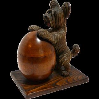Vintage Anri Hand Carved Wood Humidor c. 1926