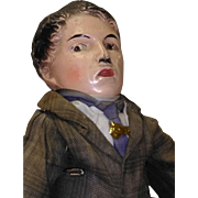 """131/2"""" Charlie Chaplin composition and cloth doll from early 20th century"""