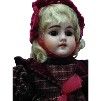 """17"""" German Dolly Face Doll with Horseshoe mark Circa turn of 20th century"""