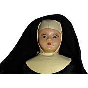 Hard Plastic Nancy Ann Story Book Nun with San Francisco Label