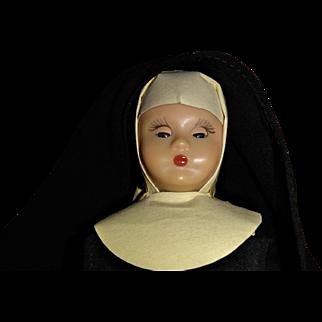 Hard Plastic Nancy Ann Story Book Nun with San Francisco Label