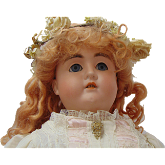 21 inch German Bisque Doll from the firm of Schoenhau-Hoffmeister circa 1890-1910