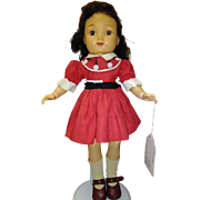 """14"""" Betsy McCall Ideal doll with vinyl head, brown open and close eyes and plastic body."""