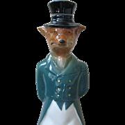 Vintage GREEN Foxy Gent JIM BEAM Bourbon Decanter, circa 1965