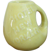 Hall Pottery, Vintage 1930's HOTEL NEW YORKER Pottery Creamer, Hotel Ware, Restaurant Ware